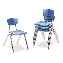 "3000 Series Classroom Chairs 18"" Seat Height Blueberry 4Carton (VIR301840)"