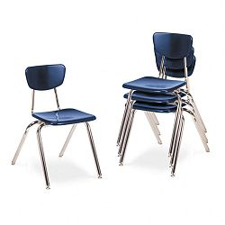 "3000 Series Classroom Chairs 18"" Seat Height Navy 4Carton (VIR301851)"