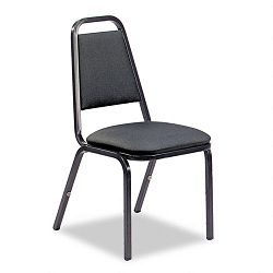Vinyl Upholstered Stacking Chair 18 x 22 x 34-12 Black 4Carton (VIR489265E38G4)