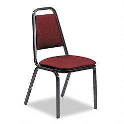 Vinyl Upholstered Stacking Chair 18 x 22 x 34-12 Wine 4Carton (VIR48926E38D8)