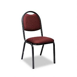 Fabric Upholstered Stacking Chair 18 x 22 x 35-12h Sedona Ruby 4Carton (VIR8917ERED201)