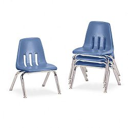 "9000 Series Classroom Chairs 10"" Seat Height BlueberryChrome 4Carton (VIR901040)"