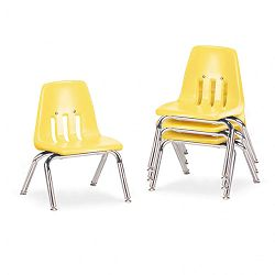 "9000 Series Classroom Chairs 10"" Seat Height SquashChrome 4Carton (VIR901047)"