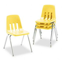 "9000 Series Classroom Chair 18"" Seat Height SquashChrome 4Carton (VIR901847)"