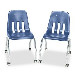 Standard Teacher's Chair 18-58 x 21 x 30 Blueberry 2Carton (VIR905040)