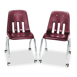 Standard Teacher's Chair 18-58 x 21 x 30 Wine 2Carton (VIR905050)