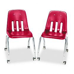 Standard Teacher's Chair 18-58 x 21 x 30 Red 2Carton (VIR905070)