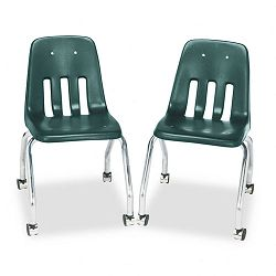 Standard Teacher's Chair 18-58 x 21 x 30 Forest Green 2Carton (VIR905075)