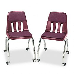 Padded Teacher's Chair 18-58 x 21 x 30 Wine (VIR9050P50)