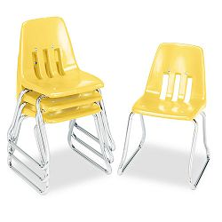 "9600 Classic Classroom Chairs 14"" Seat Height SquashChrome 4Carton (VIR961447)"