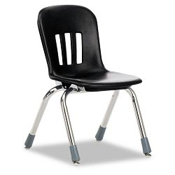 "Metaphor Series Classroom Chair 12-12"" Seat Height BlackChrome 5Carton (VIRN912BLK01CHM)"