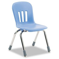 "Metaphor Series Classroom Chair 12-12"" Seat Height BlueberryChrome 5Carton (VIRN912BLU40CHM)"