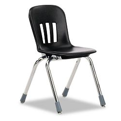 "Metaphor Series Classroom Chair 14-12"" Seat Height BlackChrome 5Carton (VIRN914BLK01CHM)"
