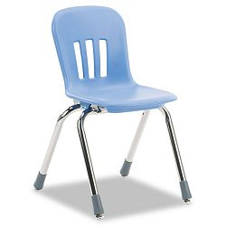 "Metaphor Series Classroom Chair 14-12"" Seat Height BlueberryChrome 5Carton (VIRN914BLU40CHM)"