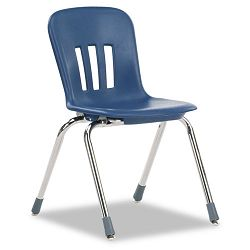 "Metaphor Series Classroom Chair 16-12"" Seat Height Navy BlueChrome 4Carton (VIRN916BLU51CHM)"