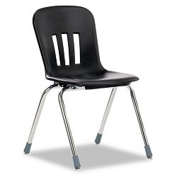 "Metaphor Series Classroom Chair 18"" Seat Height BlackChrome 4Carton (VIRN918BLK01CHM)"