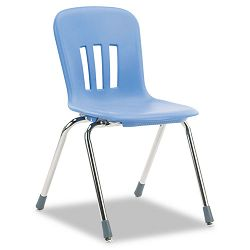 "Metaphor Series Classroom Chair 18"" Seat Height BlueberryChrome 4Carton (VIRN918BLU40CHM)"