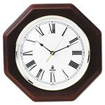 Octagon Mahogany Quartz Clock 12 in Mahogany (ILC67207010)