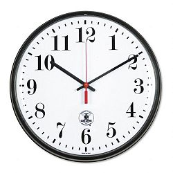 Atomic Slimline Clock 12-34in Black (ILC67300302)