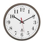 Quartz Slimline Clock 12-34in Bronze 1 AA Battery (ILC67301002)