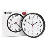 Alton Auto Daylight Savings Wall Clock 14in Black (MIL625323)