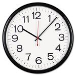 IndoorOutdoor Clock 13-12in Black (UNV11381)