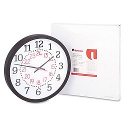 Two-Color Numerals Wall Clock 13-12in Black (UNV11431)