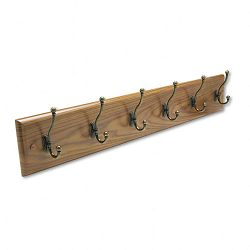 Wall Rack Six Double-Hooks Wood Medium Oak (SAF4217MO)