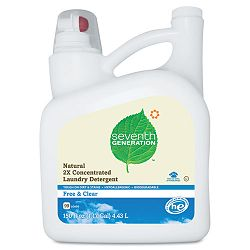 Free And Clear Natural 2X Concentrate Laundry Liquid Unscented 150 oz. Bottle (SEV22803)
