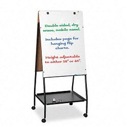 Wheasel Easel Adjustable Melamine Dry Erase Board 28 34 x 59 12 White (BLT33250)
