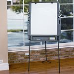 Portable Flipchart Easel wDry Erase Surface Resin 35w x 30d x 73h Charcoal (ICE30227)