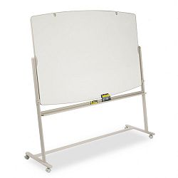 Reversible Mobile Presentation Easel Dry-Erase 72 x 48 WhiteNeutral (QRT3640TE)