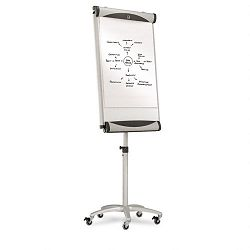 Premium Mobile Magnetic Dry Erase Easel 27 x 41 White (QRTEU2000TE)