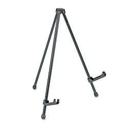 "Portable Tabletop Easel 14"" High Steel Black (UNV43028)"