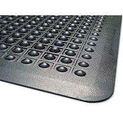 FlexStep Rubber Antifatigue Mat Polypropylene 36 x 60 Black (MLL24030500)