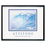 """AttitudeWaves"" Framed Motivational Print 30 x 24 (AVT78024)"