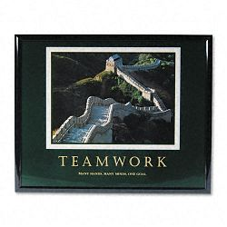 """TeamworkGreat Wall Of China"" Framed Motivational Print 30 x 24 (AVT78025)"