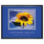 """Customer Service"" Framed Motivational Print 30 x 24 (AVT78027)"