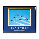 """TeamworkJets"" Framed Motivational Print 30 x 24 (AVT78028)"
