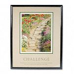 """Challenge"" Framed Motivational Print 24 x 30 (AVT78032)"