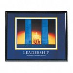 """Leadership"" Framed Motivational Print 30 x 24 (AVT78035)"