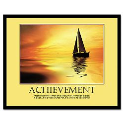 """Achievemant"" Framed Motivational Print 24 x 30 (AVT78081)"