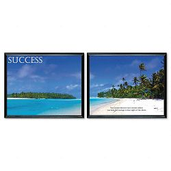 """Success"" Framed Motivational Print 30 x 24 2Set (AVT78166)"