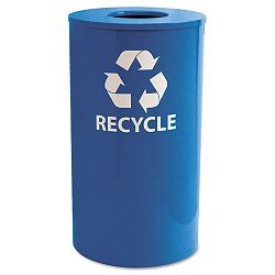 IndoorOutdoor Round Steel Recycling Receptacle 33 gal Blue (EXCRC33RBL)