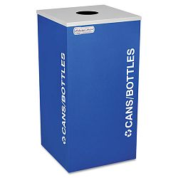 Kaleidoscope Collection Recycling Receptacle 24 gal Royal Blue (EXCRCKDSQCRYX)