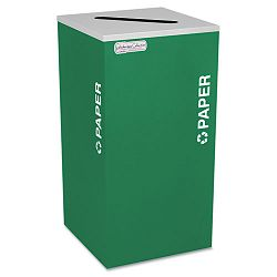Kaleidoscope Collection Recycling Receptacle 24 gal Emerald Green (EXCRCKDSQPEGX)