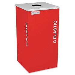 Kaleidoscope Collection Recycling Receptacle 24 gal Ruby Red (EXCRCKDSQPLRBX)