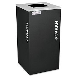 Kaleidoscope Collection Recycling Receptacle 24 gal Black (EXCRCKDSQTBLX)