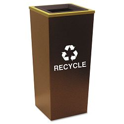 Metro Collection Recycling Receptacle Square Steel 18 gal Brown (EXCRCMTR1HCP)