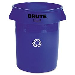 Brute Recycling Container Round Plastic 32 gal Blue (RCP263273BE)